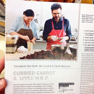 Pai and Mark in Food and Wine Magazine